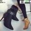รองเท้าบุทส้นเข็มหุ้มข้อ ST621-TAN [สีแทน] thumbnail 4