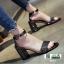 รองเท้าส้นสูงนำเข้าสไตล์เกาหลี 0653-ดำ [สีดำ] thumbnail 3