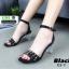รองเท้าส้นสูงรัดข้อ สไตล์valentino ส้นแก้ว C3-7-BLK [สีดำ] thumbnail 2