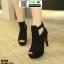 รองเท้าคัชชูเปิดหน้าส้นสูง ST8818-BLK [สีดำ] thumbnail 2
