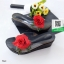 รองเท้าส้นเตารีดสีดำ แต่งดอกกุหลาบสีแดง (สีดำ ) thumbnail 2