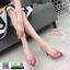 รองเท้าส้นสูงหัวแหลมแหลม ใสเปิดส้น H178-A12-PNK [สีชมพู] thumbnail 3