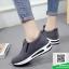 รองเท้าผ้าใบไร้เชือกสีเทา แนวสตรีท (สีเทา ) thumbnail 4