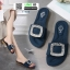 รองเท้าแตะสุขภาพ สไตล์ Roger Vivier Sandals 1-906-DBLU [สีน้ำเงินเข้ม] thumbnail 1