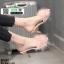 รองเท้าส้นสูงแบบสวมขนเฟอร์ ST6191-PNK [สีชมพู] thumbnail 2