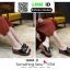 รองเท้าลำลองส้นเตารีด หน้าห่วง 1809-2-BLK [สีดำ] thumbnail 4