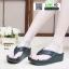 รองเท้าสุขภาพแบบหูคีบ แต่งคริสตัล PF2074-BLK [สีดำ] thumbnail 1
