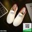 รองเท้าผ้าใบแฟชั่นสีขาว แบบสวม ขอบแบบยืดได้ (สีขาว ) thumbnail 1