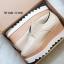 รองเท้าคัทชูเสริมส้นสีครีม ทรงมัฟฟิน ลายไม้ (สีครีม ) thumbnail 4