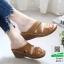รองเท้าสุขภาพหน้าไขว้ งานขายดีอันดับ 1 8849-1-น้ำตาล [สีน้ำตาล ] thumbnail 1
