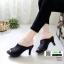 รองเท้าส้นสูงหน้าเต็ม พื้น pu หนังลื่นๆ 2303-ดำ [สีดำ] thumbnail 1