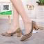 รองเท้าคัทชูหัวแหลมสีเทา แต่งกริตเตอร์ (สีเทา ) thumbnail 2