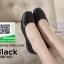 รองเท้าคัทชูส้นเตี้ยสีดำ แต่งหนังซ้อน (สีดำ ) thumbnail 2
