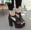 รองเท้าคัชชูขัดข้อเปิดหน้าส้นแท่ง งานนำเข้า100% ST989-BLK [สีดำ] thumbnail 1