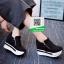 รองเท้าผ้าใบเสริมส้นสีดำ ทรงมัฟฟิน ดีไซน์เท่ๆ (สีดำ ) thumbnail 5