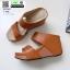 รองเท้าเตารีด Wedge shoe 2 ตอนหุ้มส้น 1146-น้ำตาล [สีน้ำตาล] thumbnail 3