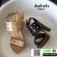 รองเท้าส้นสูงเสริมหน้า ส้น pu ลายไม้ 318311-BLK [สีดำ] thumbnail 4