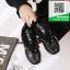 รองเท้าผ้าใบเพื่อสุขภาพสีดำ หนังนิ่ม (สีดำ ) thumbnail 2