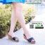 รองเท้าส้นสูง เปิดส้น ส้นตัน SM9031-BLK [สีดำ] thumbnail 2