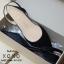 รองเท้าส้นเตี้ยรัดส้น ส้นตอก ยางยืดหลัง 1218-BLK [สีดำ] thumbnail 3