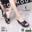 รองเท้าส้นเตารีดแบบสวม 8980-15-BLK [สีดำ]