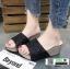 รองเท้าส้นเตารีด หน้าสวม กากเพชร 1902-BLK [สีดำ] thumbnail 3