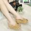 รองเท้าสไตล์เพื่อสุขภาพ ทรงเตารีด T-121-CREAM [สีครีม]