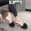 รองเท้าส้นสูงแบบสวมขนเฟอร์ ST6191-BLK [สีดำ] thumbnail 1
