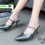 รองเท้าเปิดส้น Zara style หัวแหลม C3-12-D-GREY [สีเทาเข้ม] thumbnail 1