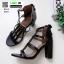 รองเท้าส้นสูง ส้นแมกซี่ 690-1-ดำ [สีดำ] thumbnail 3