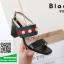 รองเท้าส้นสูงรัดส้นสีดำ สไตล์ GUCCI (สีดำ ) thumbnail 2