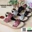 รองเท้าแตะพียู แบบสวม ส้นโฟม PU6097-BLK [สีดำ] thumbnail 5
