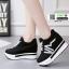 รองเท้าผ้าใบแพลตฟอร์มนำเข้า HWA-536-BLK [สีดำ] thumbnail 3