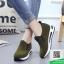 รองเท้าผ้าใบไร้เชือกสีน้ำตาล แนวสตรีท (สีน้ำตาล ) thumbnail 3