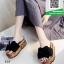 รองเท้าแตะส้นเตารีดสีดำ พื้นเบาและนิ่มมา (สีดำ ) thumbnail 2