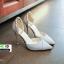 รองเท้าส้นสูงแบบหัวแหลม แต่งกลิตเตอร์ 519-เงิน [สีเงิน] thumbnail 4
