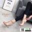 รองเท้าส้นแก้วแบบใหม่ หน้าสวม pu ใส 816-5-KHA [สีกากี] thumbnail 3