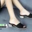 รองเท้าลำลองส้นเหลี่ยม 523-BLK [สีดำ] thumbnail 5