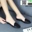 รองเท้าลำลองเปิดส้น ทรงหัวแหลม B55-354-BLK [สีดำ] thumbnail 3