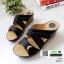 รองเท้าสุขภาพหน้าไขว้ งานขายดีอันดับ 1 8849-1-ดำ [สีดำ] thumbnail 2
