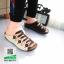 รองเท้าสไตล์เพือสุขภาพ คาดสีสลับ 5815-BROWN [สีน้ำตาล] thumbnail 1
