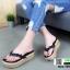 รองเท้าลำลองเตารีด เสริมส้น คีบ B22-190-BLK [สีดำ] thumbnail 4