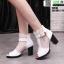 รองเท้าบูทหุ้มข้อเปิดหน้า งานนำเข้า100% ST618-WHI [สีขาว] thumbnail 2