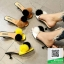 รองเท้าส้นเตี้ยสีน้ำตาล แต่งขนเฟอร์ Stly Korea (สีน้ำตาล ) thumbnail 5