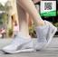 รองเท้าผ้าใบผู้หญิงสีขาว ลำลอง ทรงสปอร์ต (สีขาว ) thumbnail 4