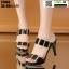 รองเท้าส้นสูง งานนำเข้า 100% ST003-BLK [สีดำ] thumbnail 2