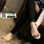 รองเท้าแตะสวมโป้ง แต่งมุก ISC001-CREAM [สีครีม] thumbnail 1
