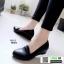 รองเท้าคัชชูด้านในบุนวมนิ่มเว่อร์(1014) 66013-ดำ [สีดำ]