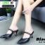 รองเท้าเปิดส้น Zara style หัวแหลม C3-12-BLK [สีดำ] thumbnail 3
