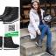 รองเท้าบูทลุยหิมะสีดำ สไตล์เกาหลี (สีดำ ) thumbnail 2